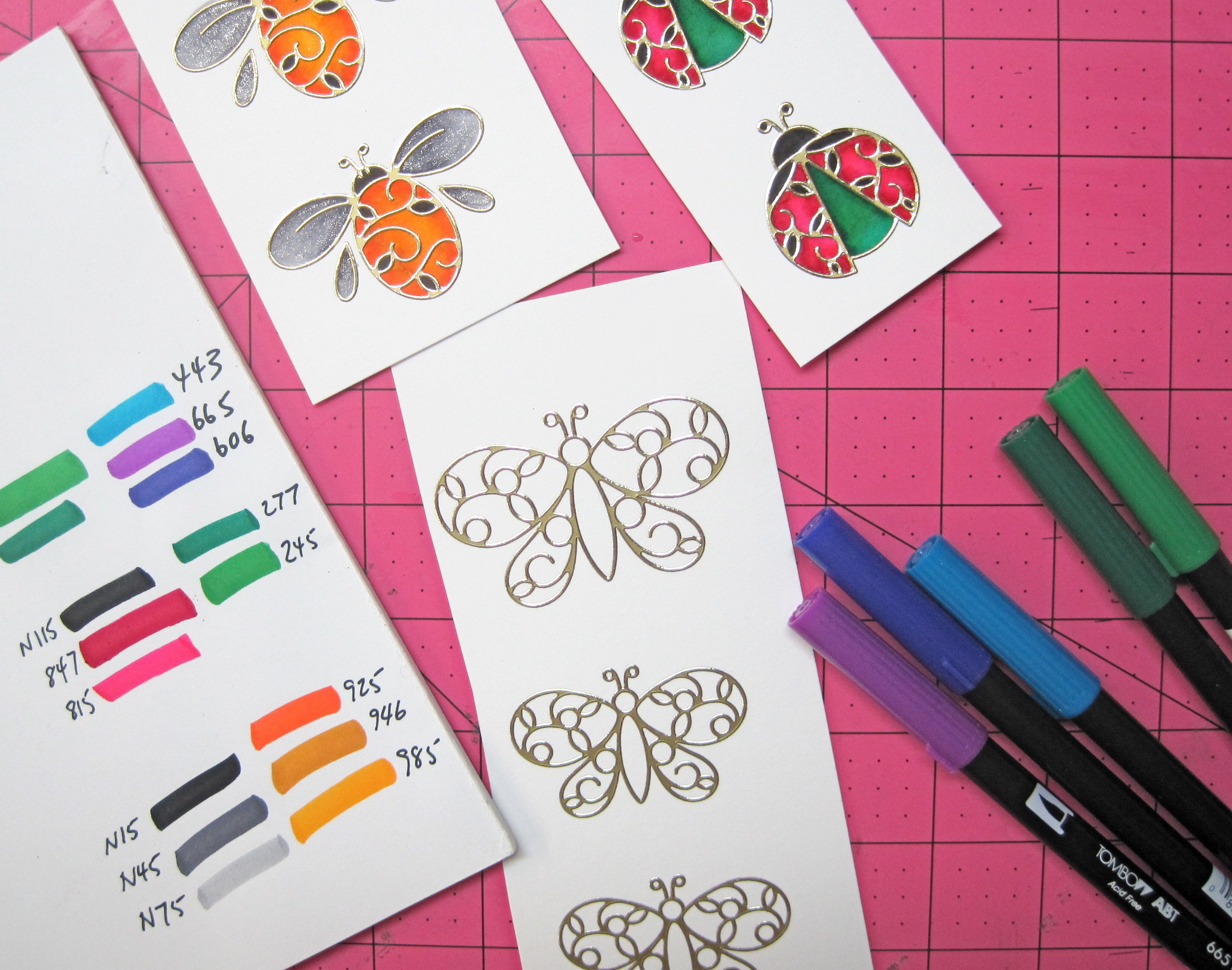 Critter Cards With Elizabeth Craft Designs Marie Browning